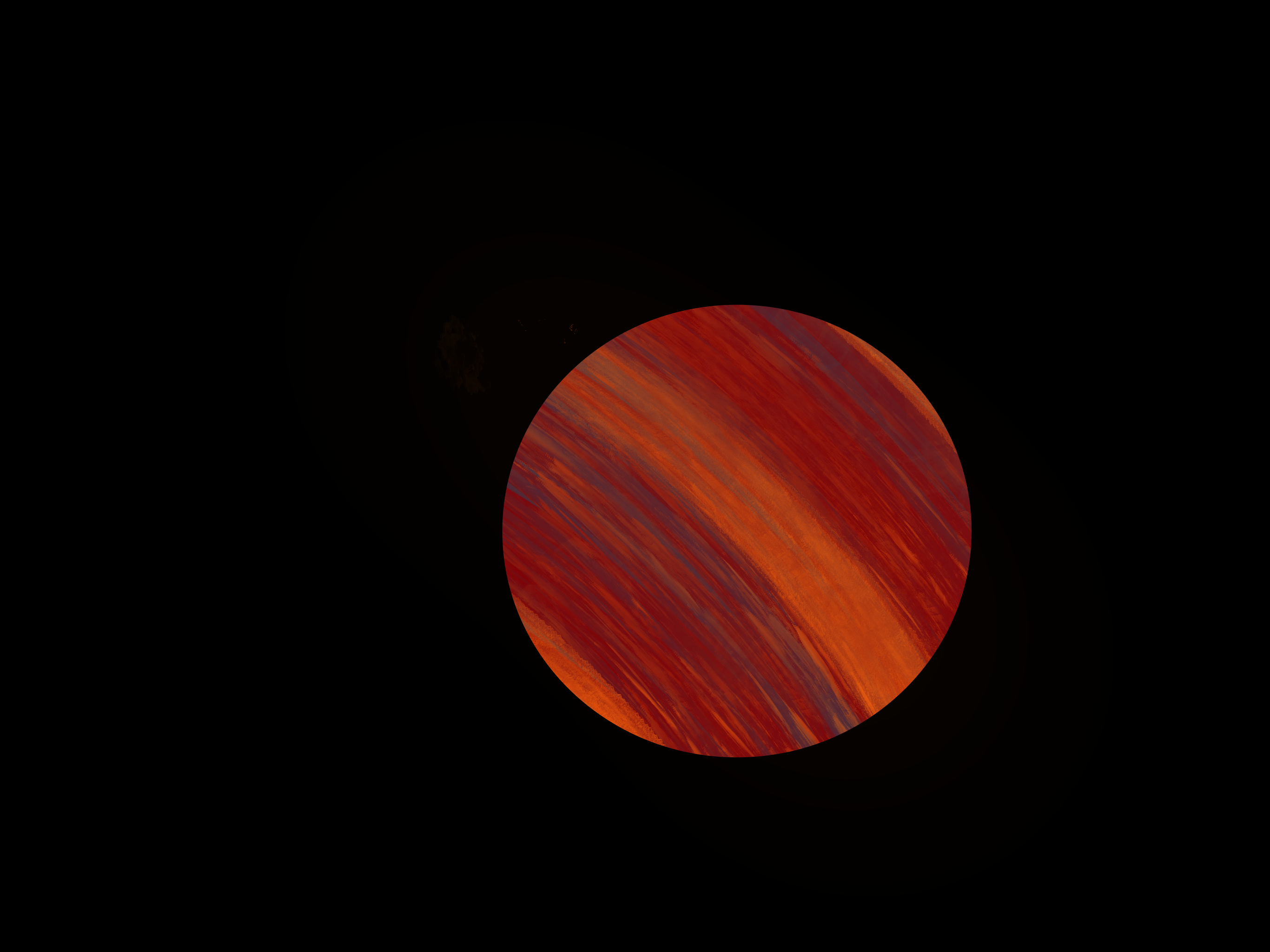 Eccentric Rotation of a Gas Giant