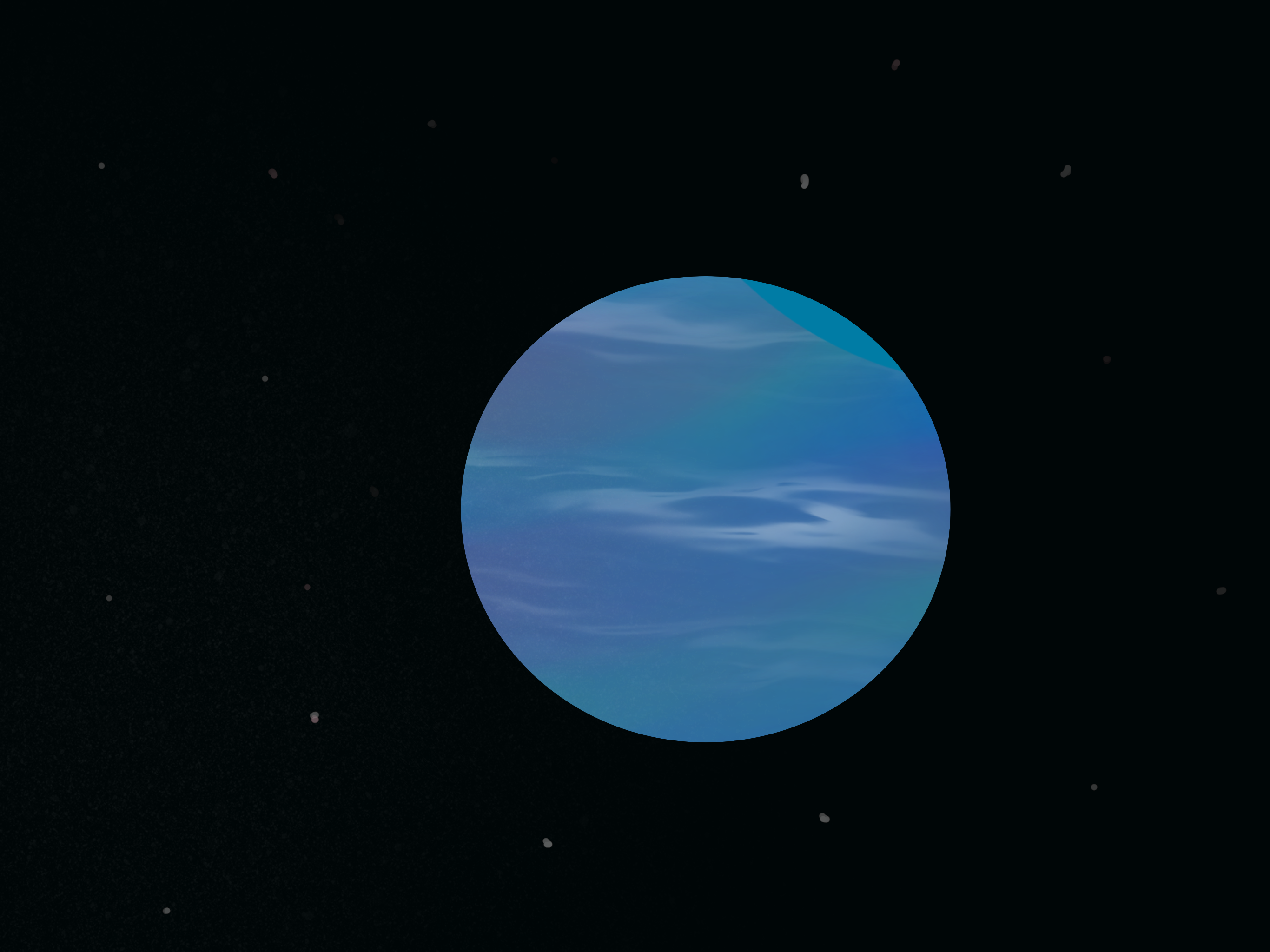 Cloudy Blue gas Giant